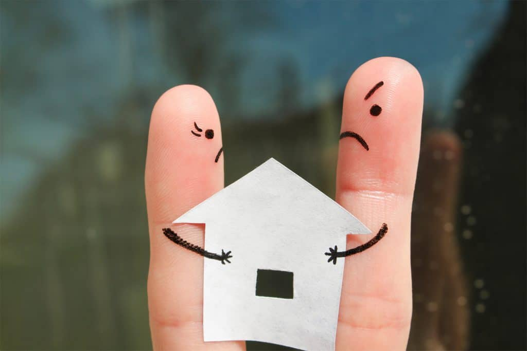 dividing the house in a divorce can get complicated